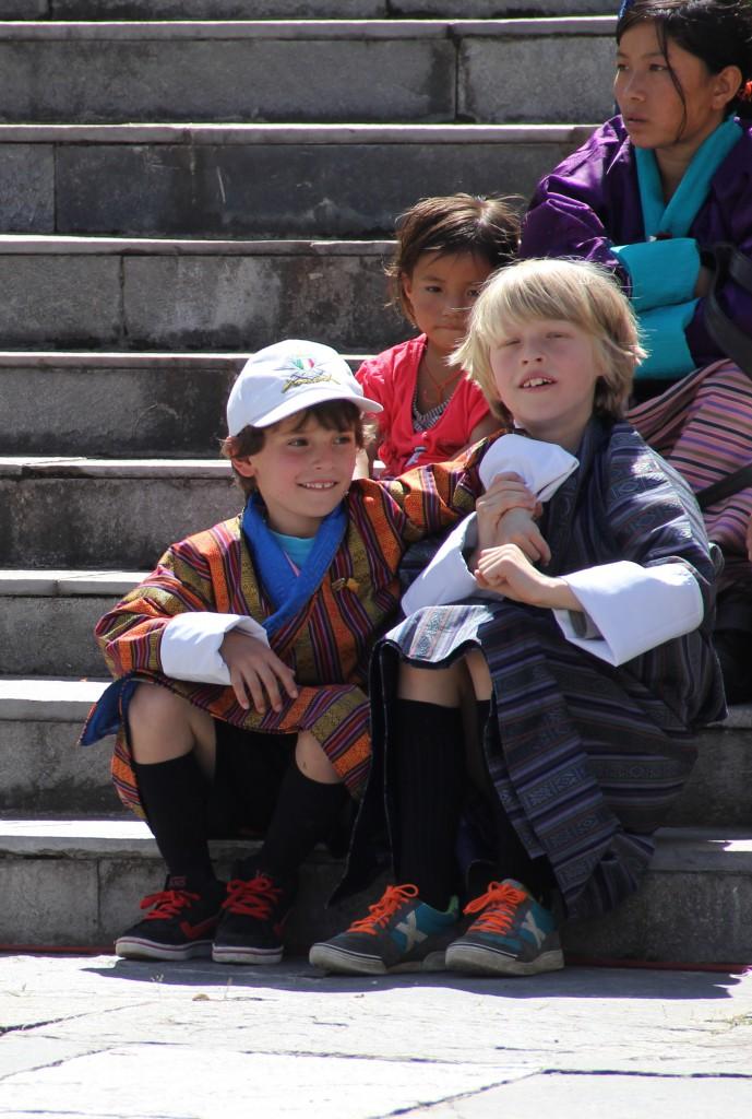 Raf met Massoud (vriendje van school).