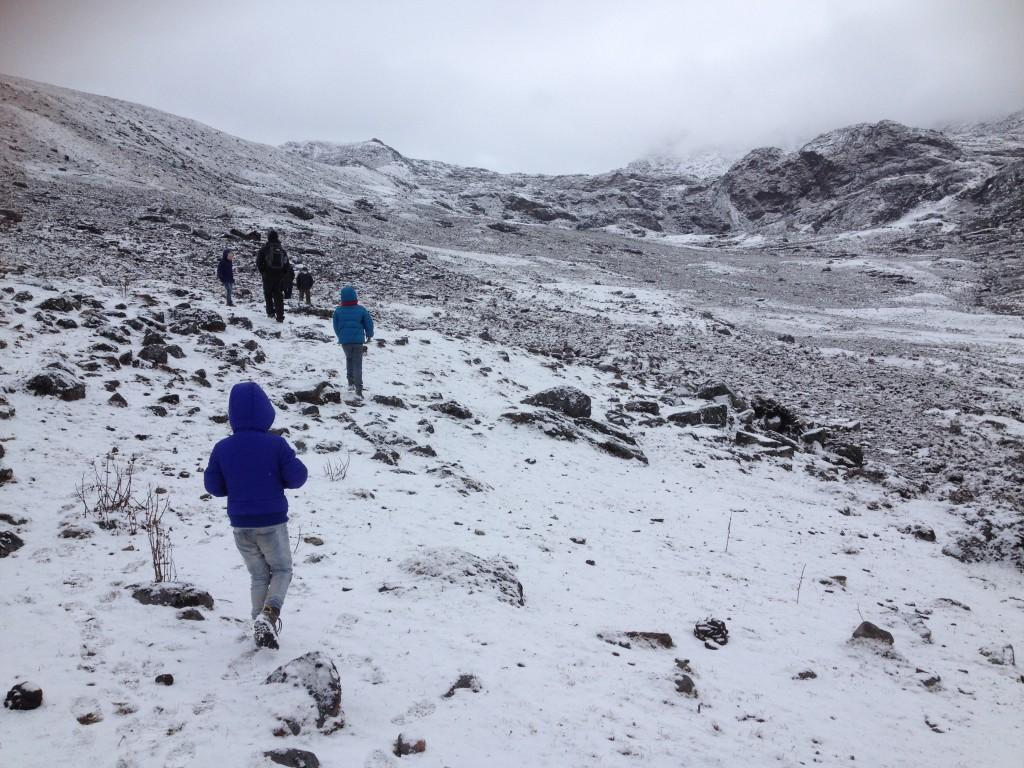 Ondanks de kou liepen de kinderen goed door.