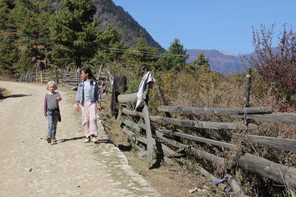 Fien en Tenzin.