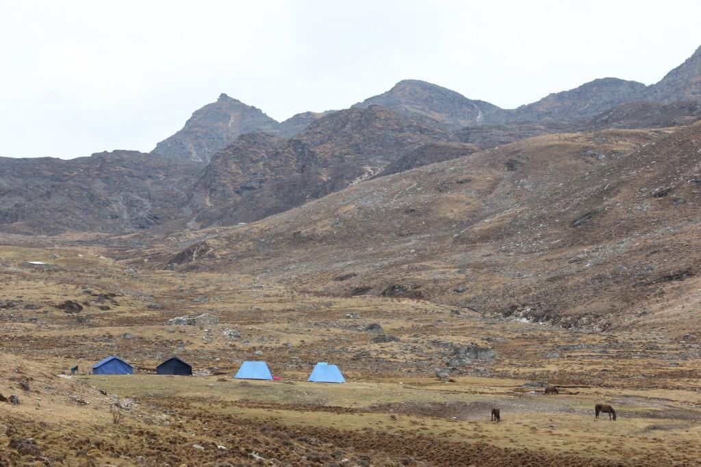 Ons kamp voor de tweede nacht...