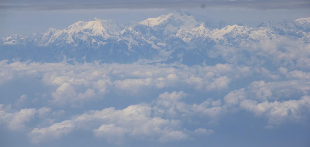 Dag machtig mooi Himalaya gebergte...